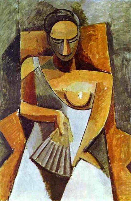Picasso - Mujer con abanico