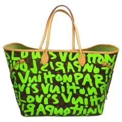 For Sale on - Extremely rare Louis Vuitton Neverfull GM graffiti inspired  by Stephen Sprouse. 4601430d3d
