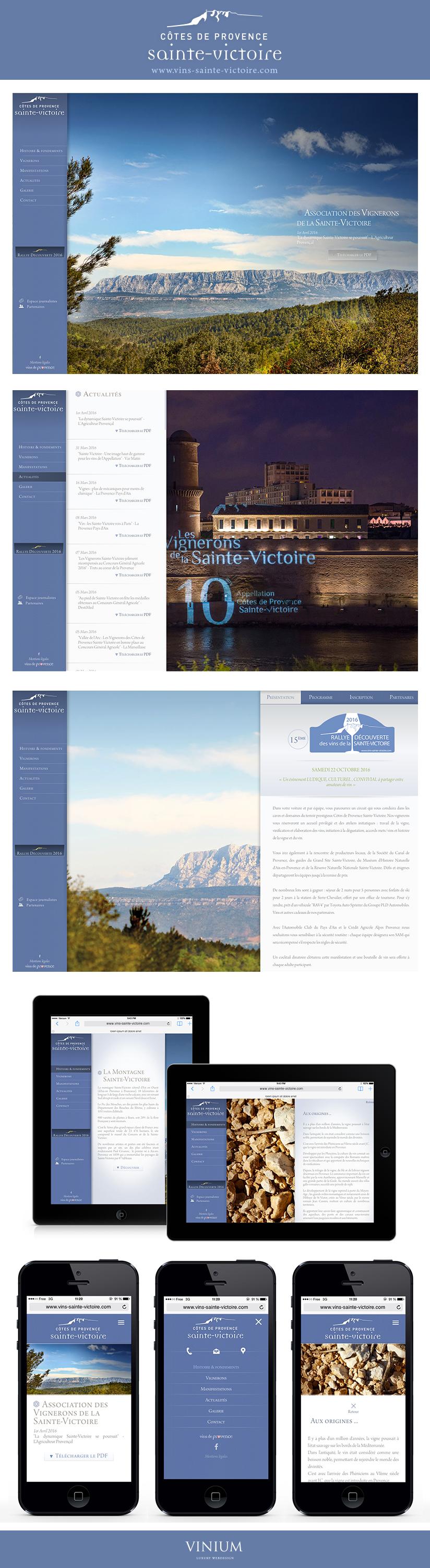 Promouvoir l'appellation Côte de Provence Sainte-Victoire est l'une des missions de l' Association-des Vignerons De Sainte-Victoire. Venez découvrir son histoire, ses fondements et son univers à travers son tout nouveau site internet : www.vins-sainte-victoire.com #vinprovence #saintevictoire #vins #webdesign #graphicdesign #website