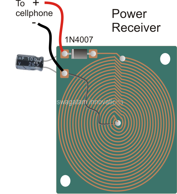 wireless cellphone charger circuit homemade circuit projects rh pinterest com