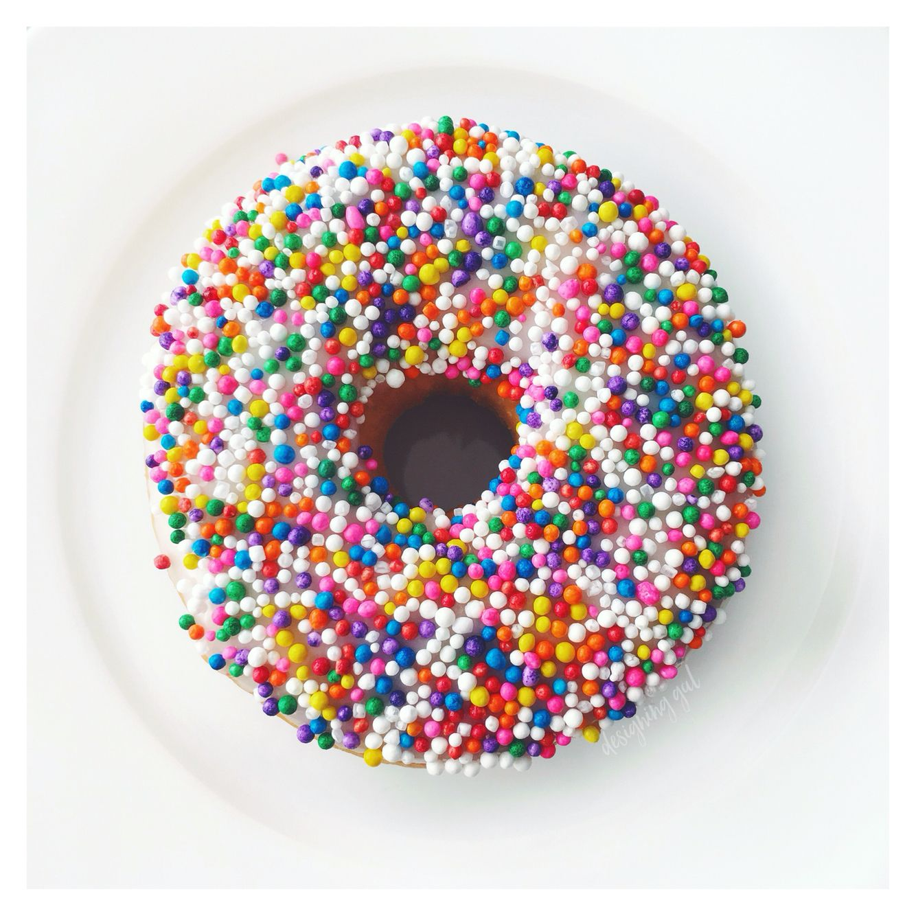Colourful sprinkle donut | The Good Life in 2019 | Sprinkle