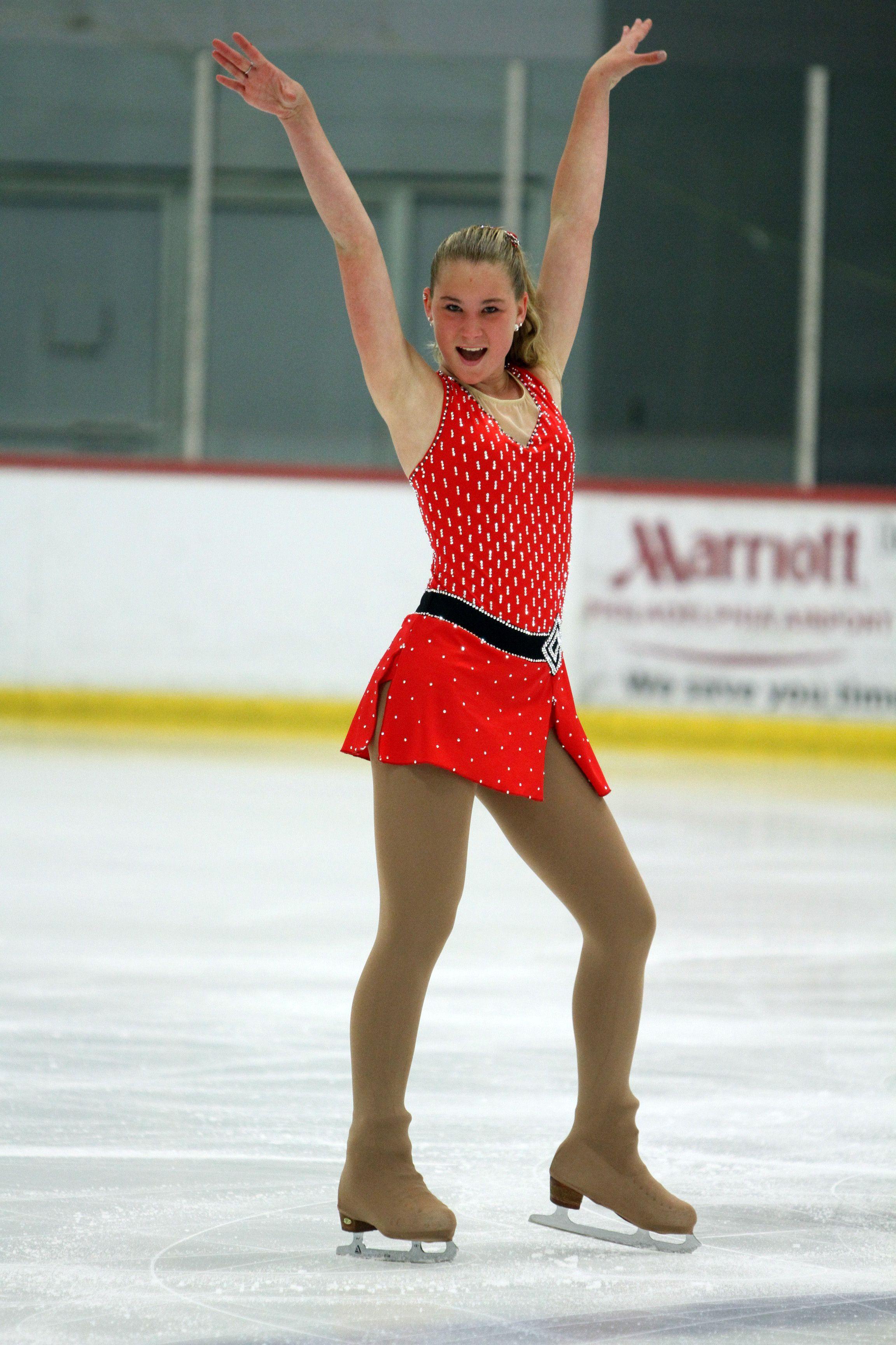 Junior Short Jazzy Swing Inspired Skating Dress By Cara