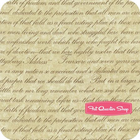 006 Gettysburg Parchment Gettysburg Address Yardage SKU 22761