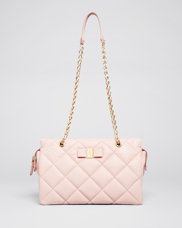 b6b305ca28 Salvatore Ferragamo Shoulder Bag - Medium Ginette Quilted ...