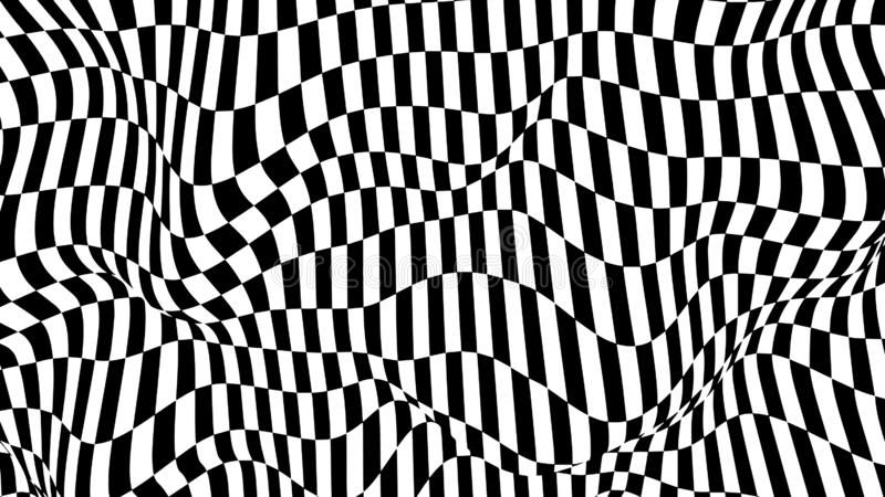 Optical Illusion Wave Chess Waves Board Abstract 3d Black And