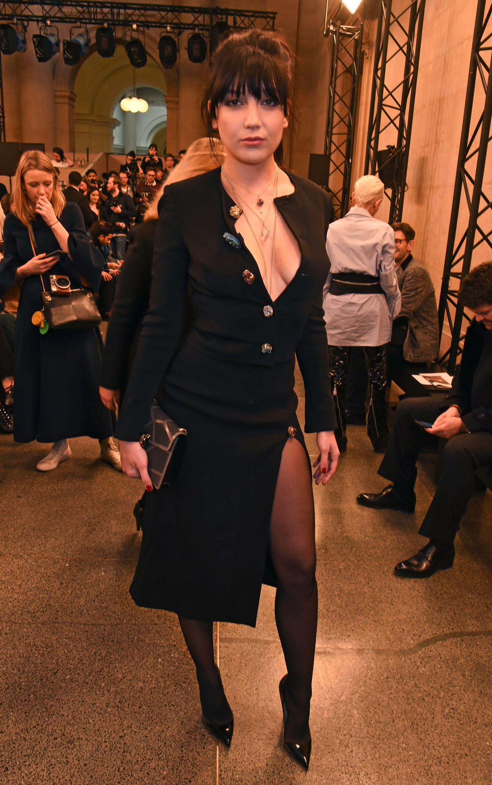 2e67f3b474 Daisy Lowe suffers big wardrobe whoops and reveals her breast at ...