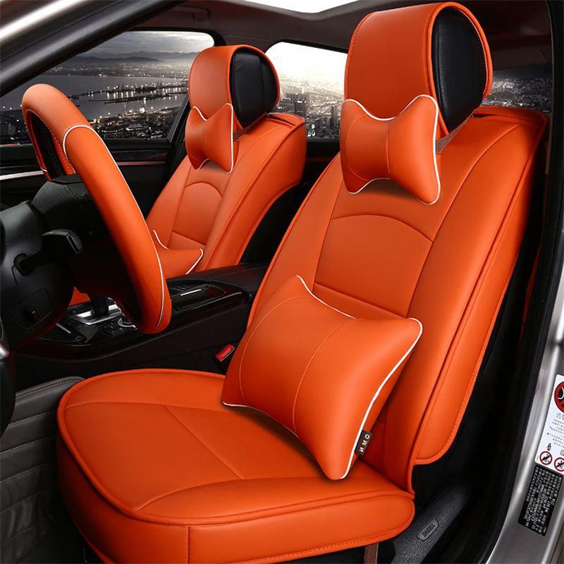 Quality wear resistant Leather car seat covers 5 seats