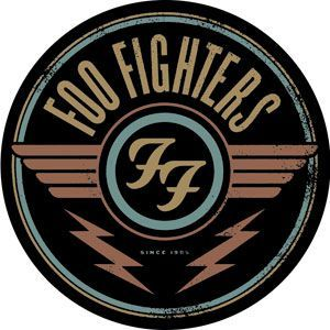 """Foo Fighters - Round Logo Sticker This round Foo Fighters Logo sticker measures approximately 4"""" in diameter and is the perfect addition to stick on your guitar case, laptop, drum set, or add to your sticker collection! #sunshinedaydream #hippieshop"""