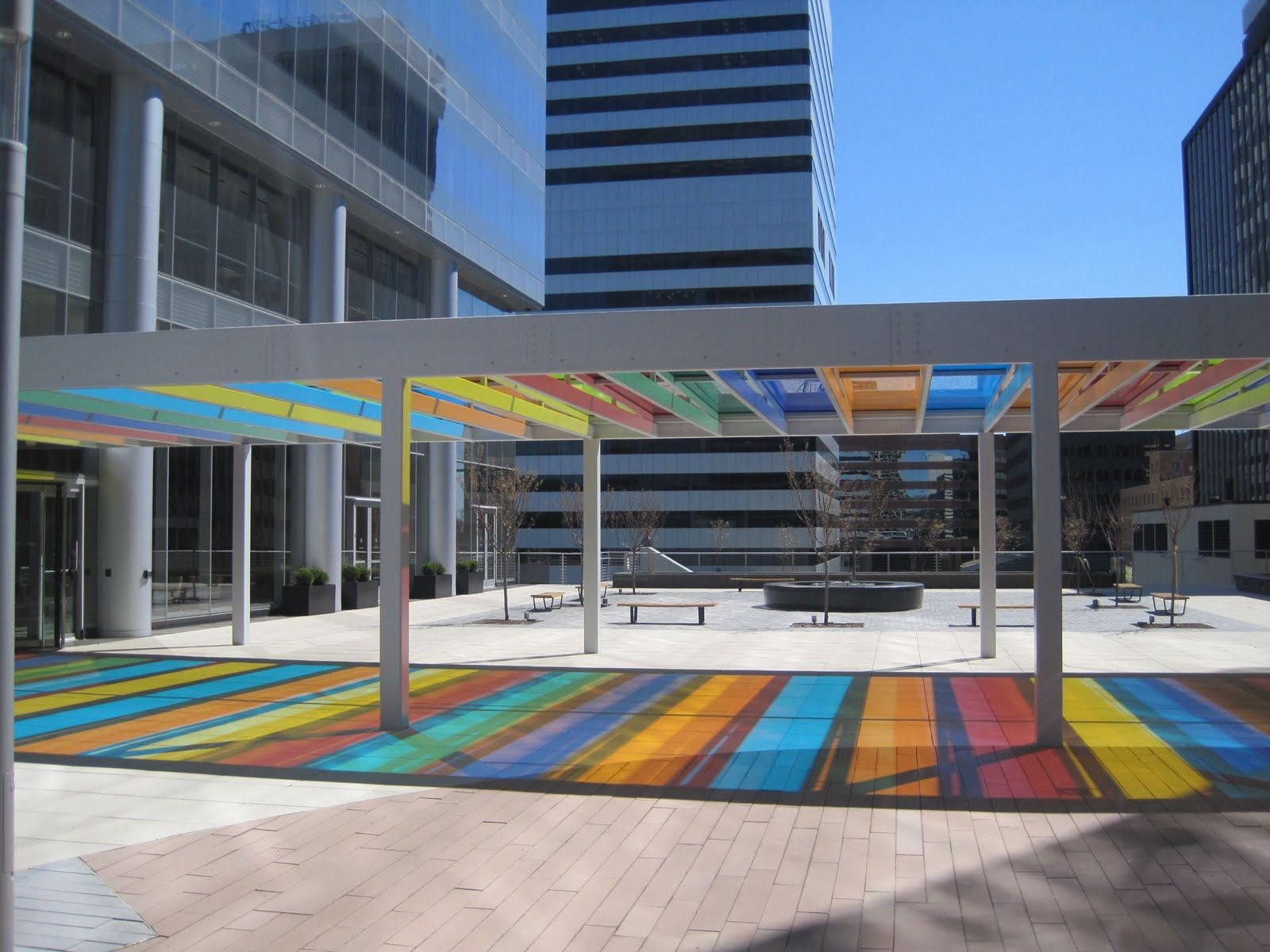 Color art st louis mo - Prettiest Piece Of Public Art In St Louis This Canopy By Liam Gillick At Centene S New Headquarters