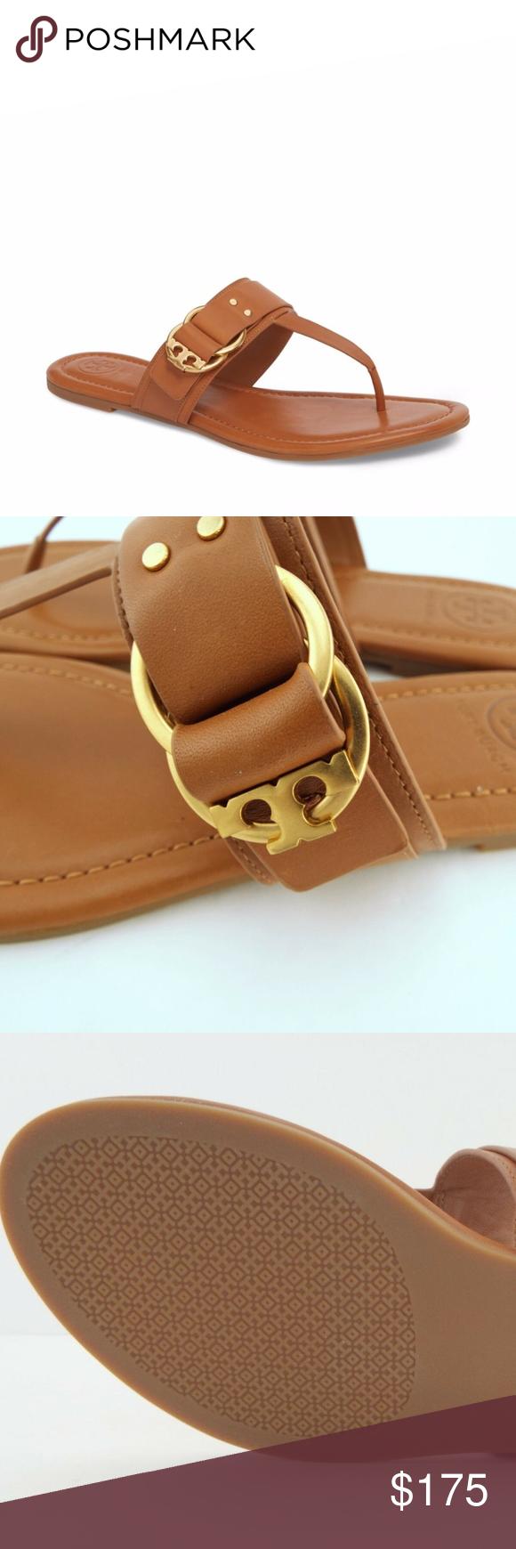 0cec68e00de New Tory Burch Marsden Flat Thong Sandal Size 10M New Tory Burch Marsden  Flat Thong Sandal Size 10M Details  Double-ring T logo hardware details  this thong ...