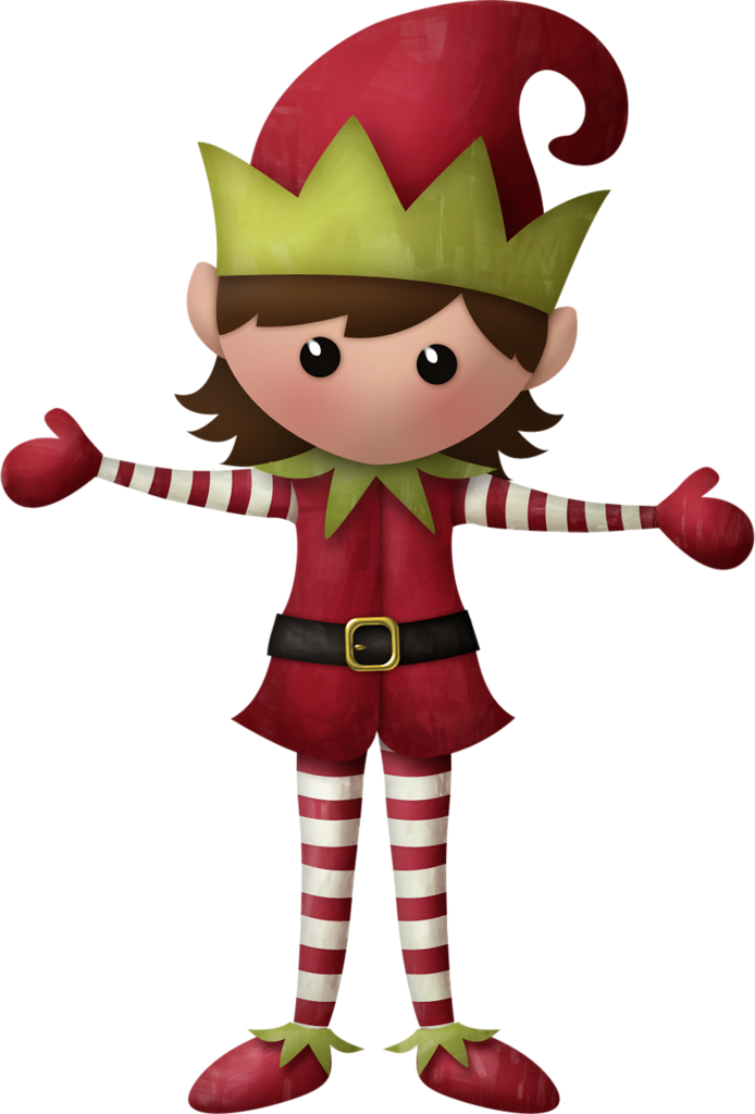 CHRISTMAS GIRL ELF CLIP ART | Lutins des Fêtes | Pinterest ...