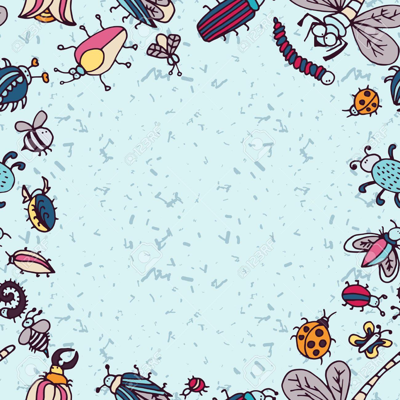cute bug border Google Search Border, Cute, Cards