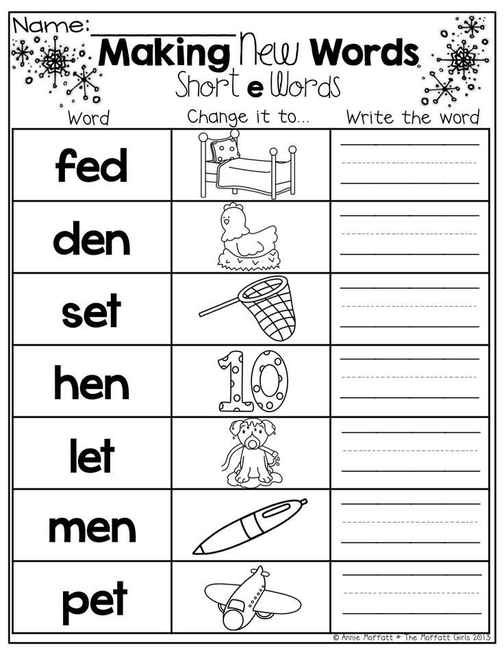 Make a NEW word! Change the beginning sound for a new sound ...