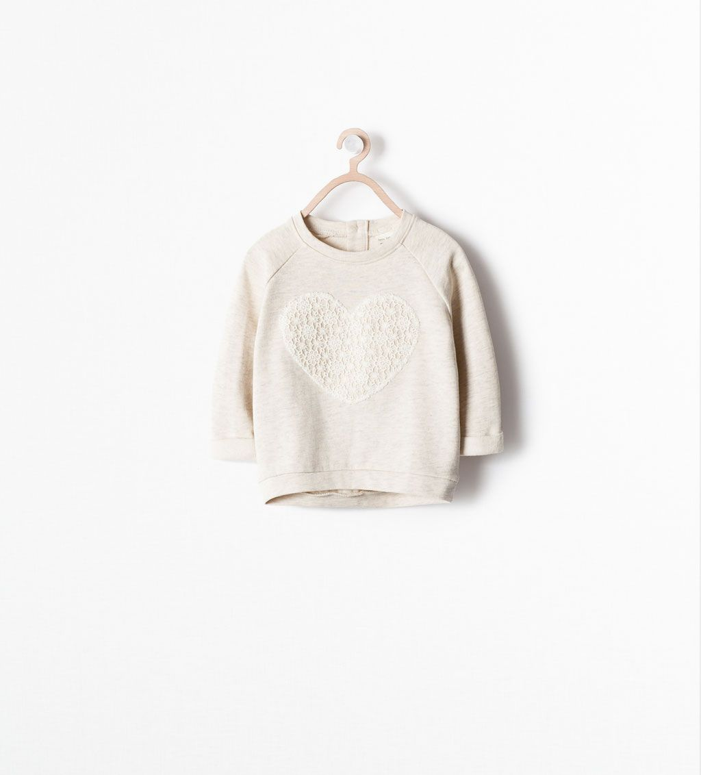 Image of guipure sweatshirt from zara children pinterest