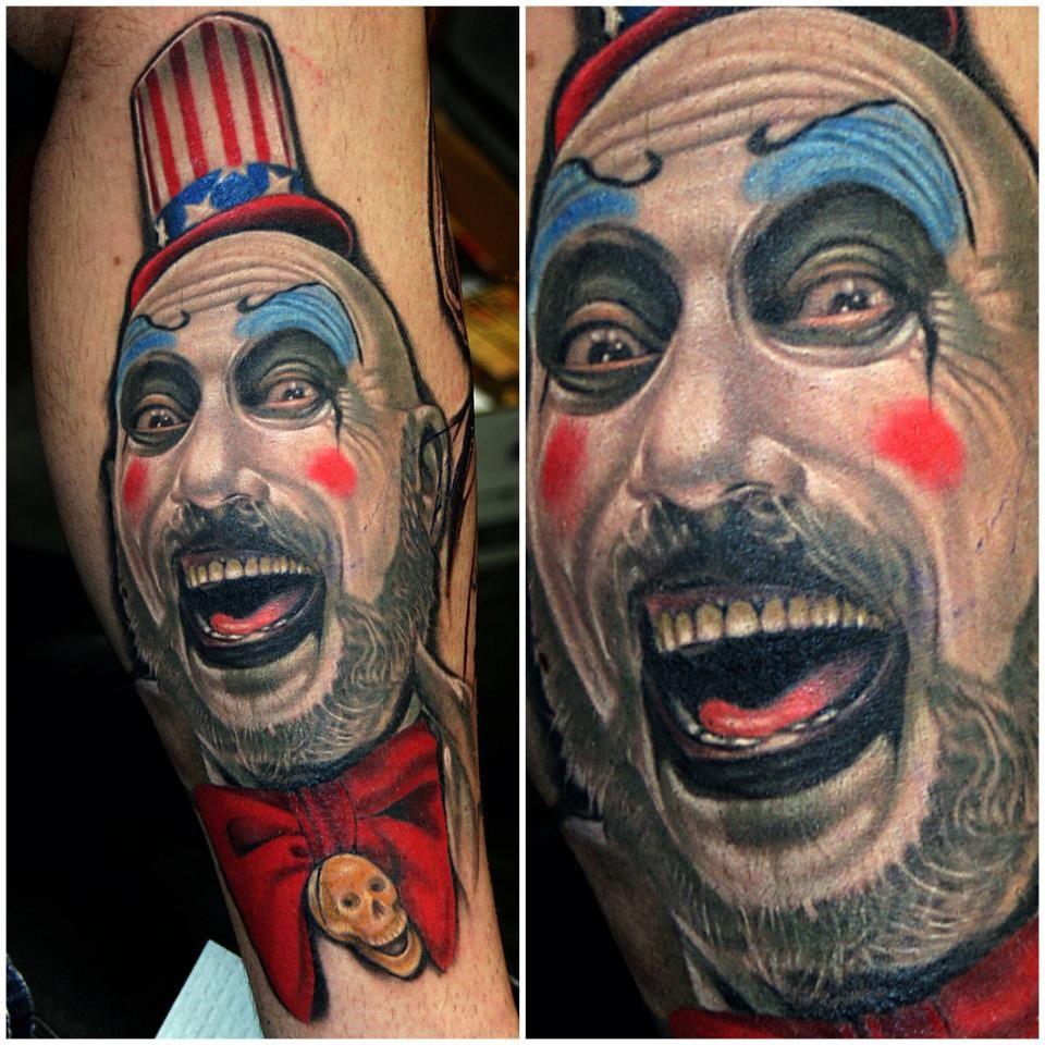captain spaulding 3d tattoo in color Portrait tattoo