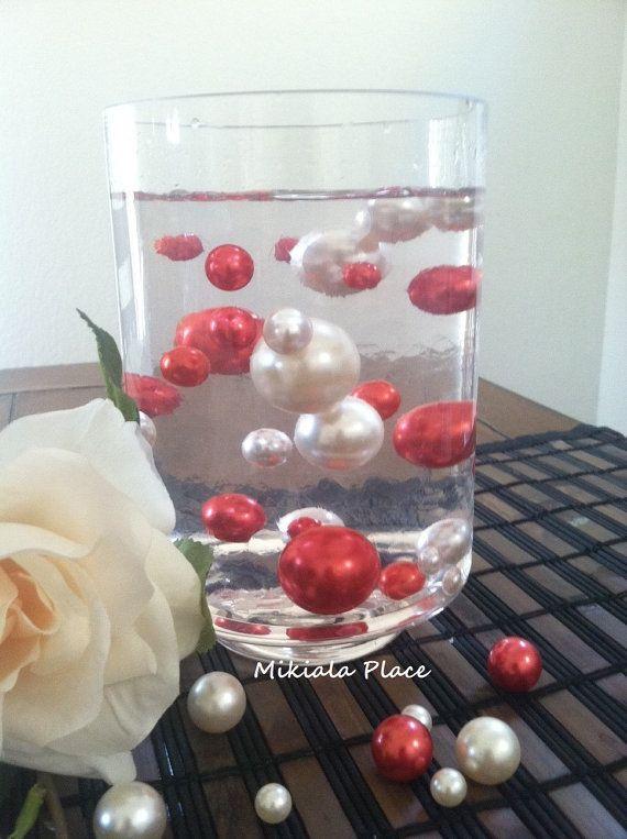 Whitered Jumbo Floating Pearls For Vase Fillersholiday Valentine