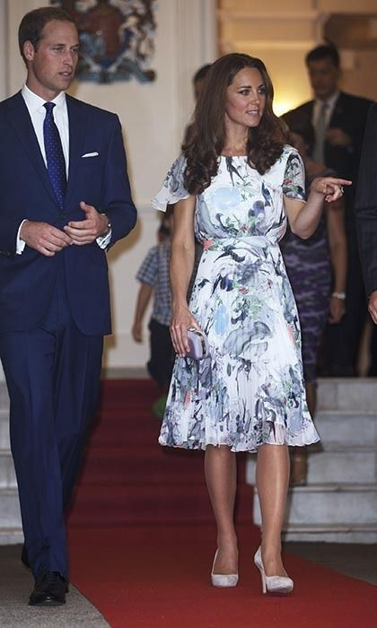 4215b82139 Katherine middleton pink floral dress | Kate Middleton's 36 best royal tour  outfits - HELLO! Canada