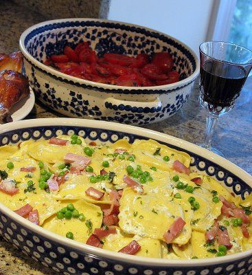 Ma's Ravioli With Ham and Peas | Big Red Kitchen - a regular gathering of distinguished guests