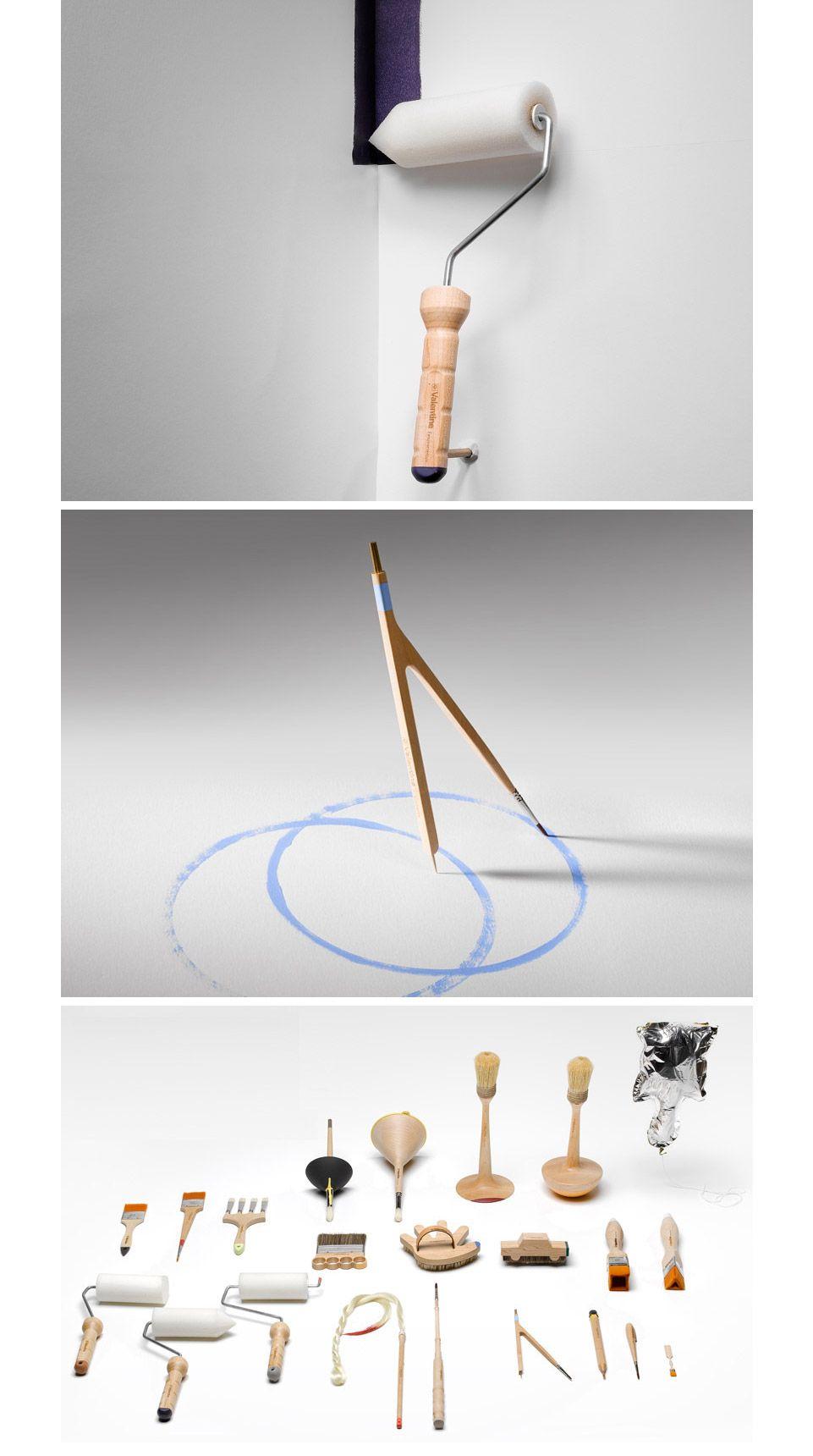 Os designers do estúdio CuldeSac criaram novos tipos de pincéis para pintura. Muito legal esse estudo.