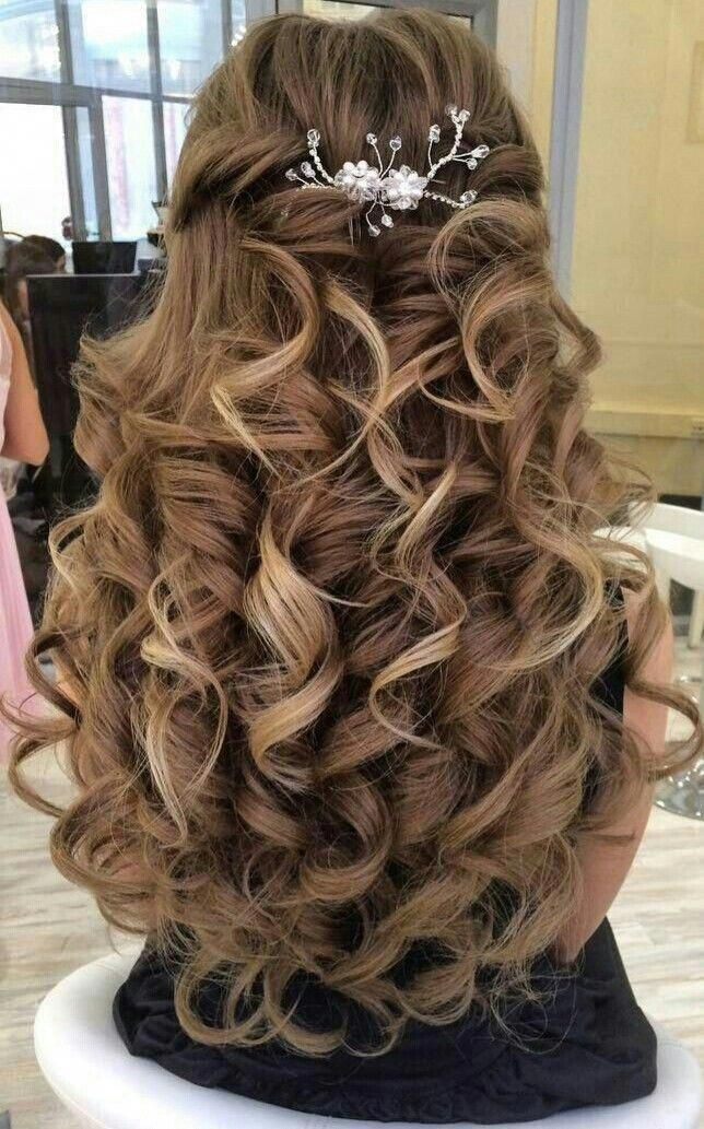 Cute wedding hairstyle for women.  ...