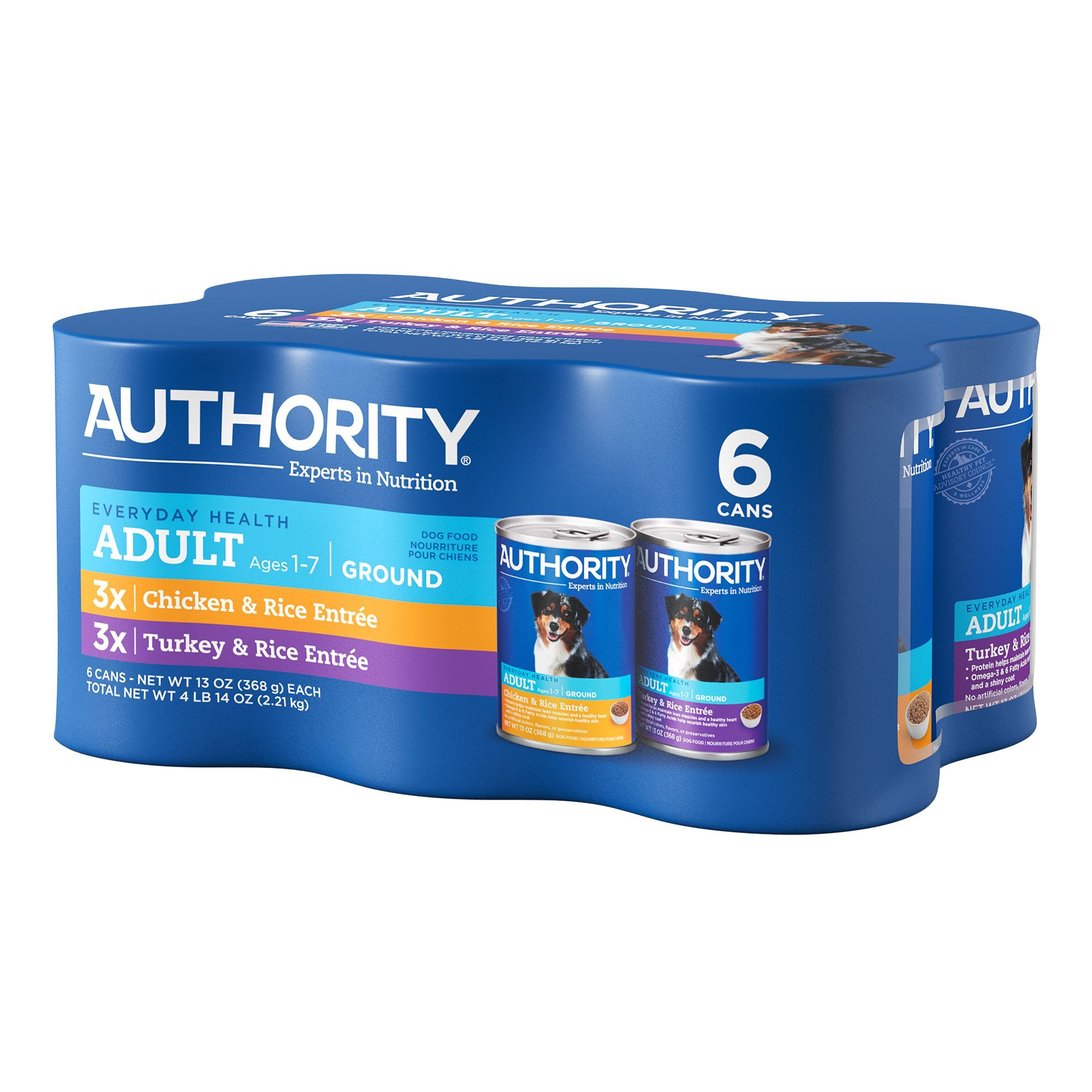 Authority Ground Wet Adult Dog Food Variety Pack in 2020