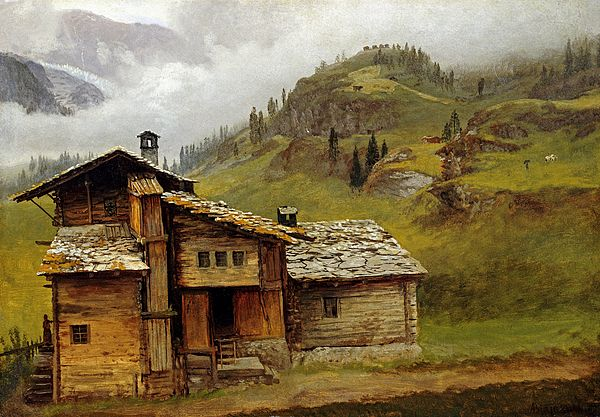 Mountain House By Motionage Designs Albert Bierstadt Albert