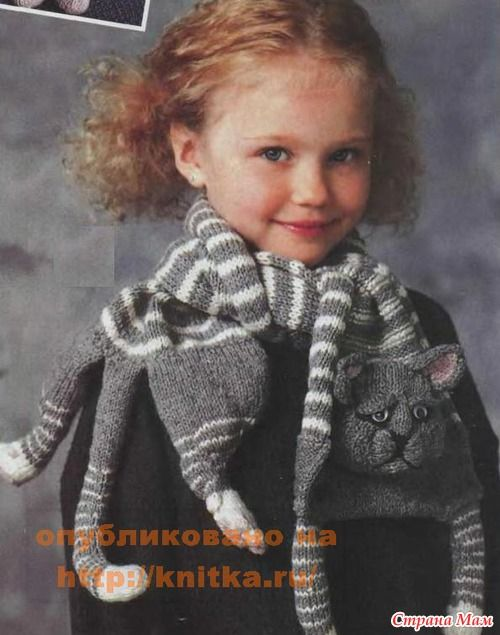 Knitted Cat Scarf Pattern Free Video Tutorial | Tejido y Puntos