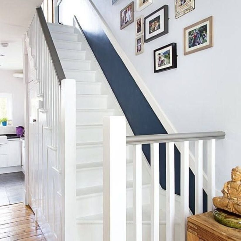Staircase Ideas For Your Hallway That Will Really Make An: 34 Painted Staircase Ideas Which Make Your Stairs Look New