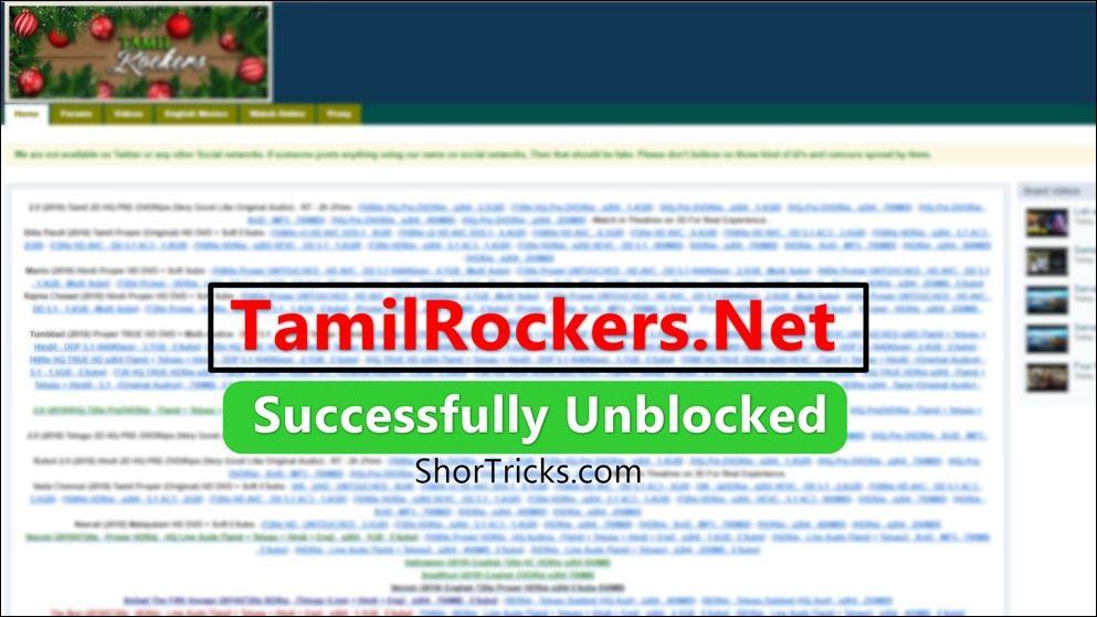 100% Working) TamilRockers Proxy Sites | Unblocked TamilRockers Net