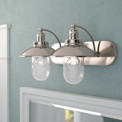Beachcrest Home Emory 2 Light Vanity Light Vanity Lighting