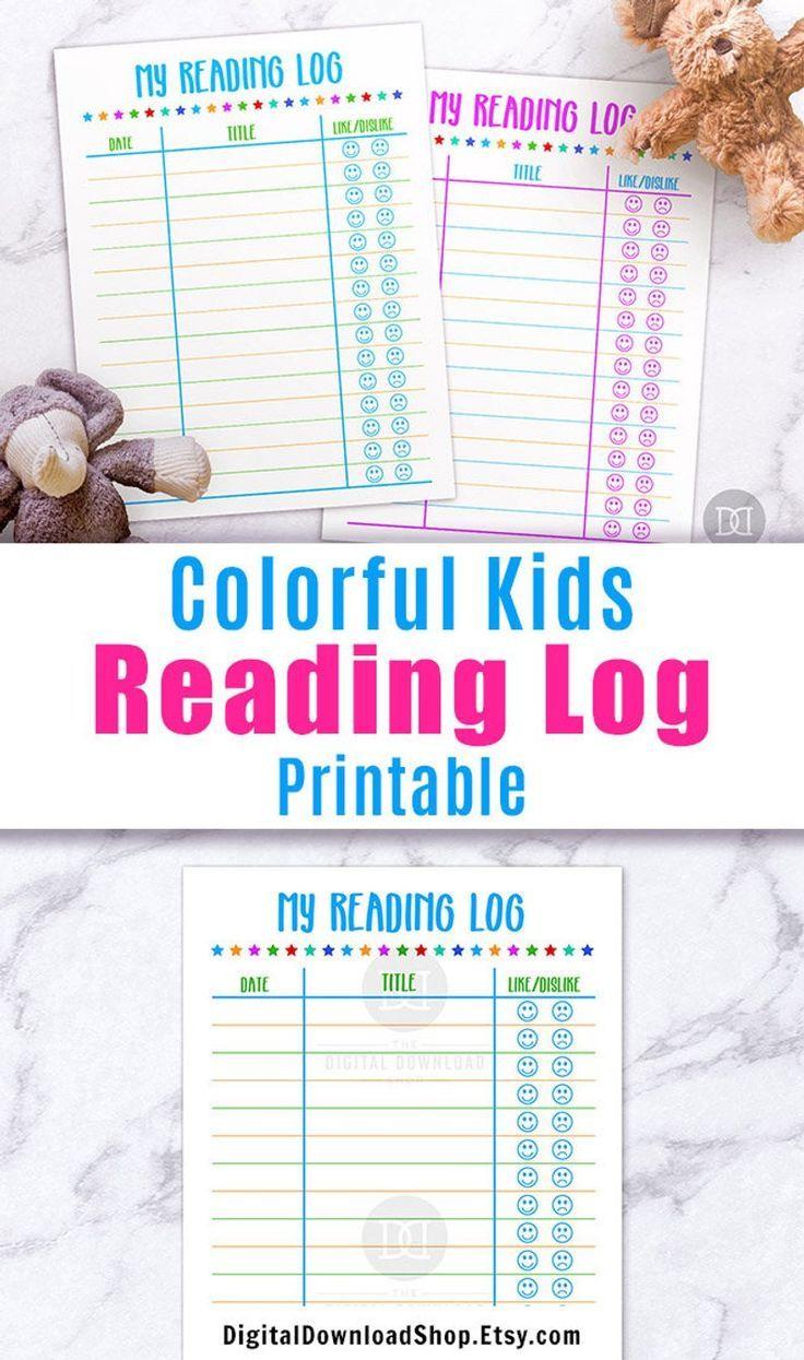 Kids Reading Log Printable, Printable Summer Reading Log