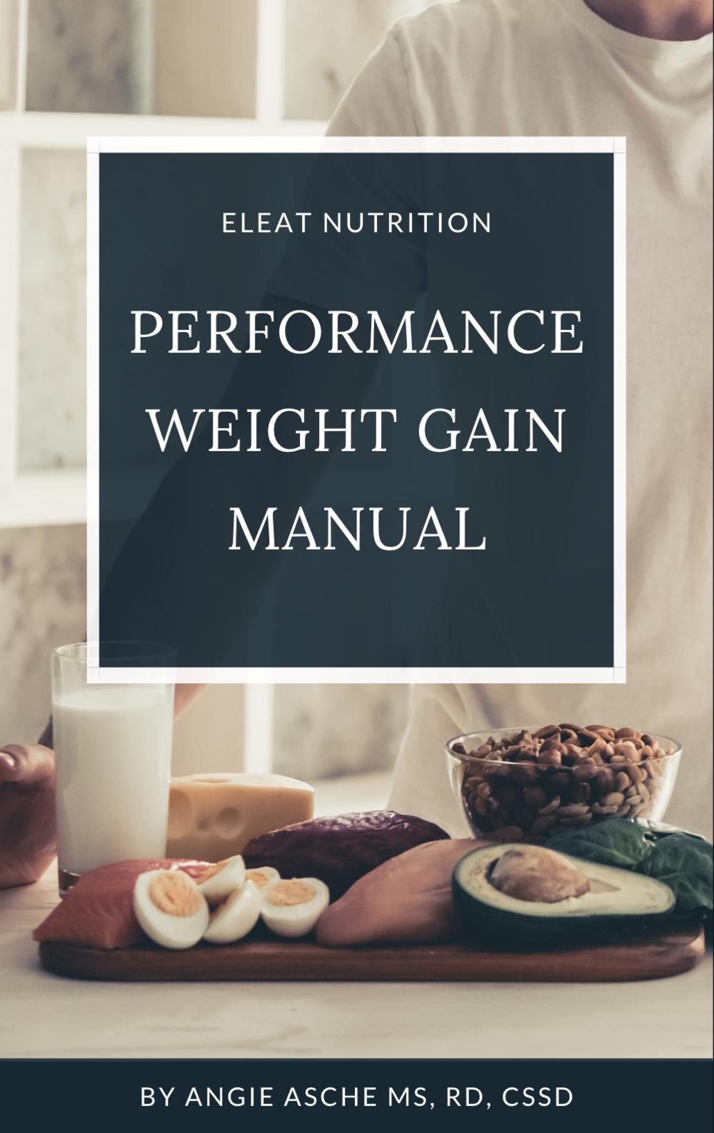 Performance Weight Gain Manual #athletenutrition