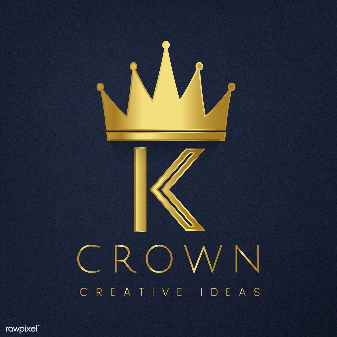 Premium K crown brand vector free image by