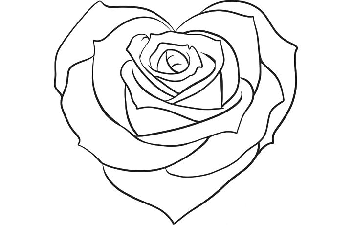 Top 25 Free Printable Beautiful Rose Coloring Pages For Kids Rose Coloring Pages Heart Drawing Heart Coloring Pages