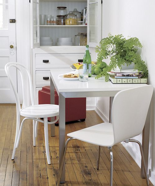 Parsons White Top 48x28 Dining Table Crate And Barrel