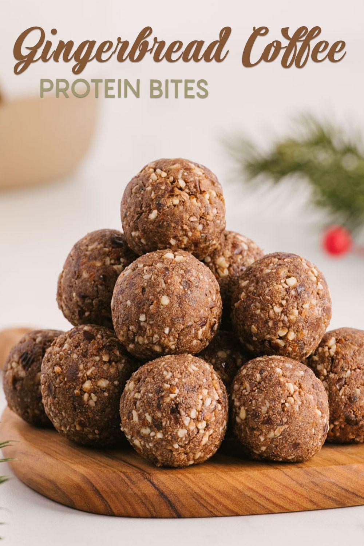 Gingerbread coffee protein bites recipe protein bites