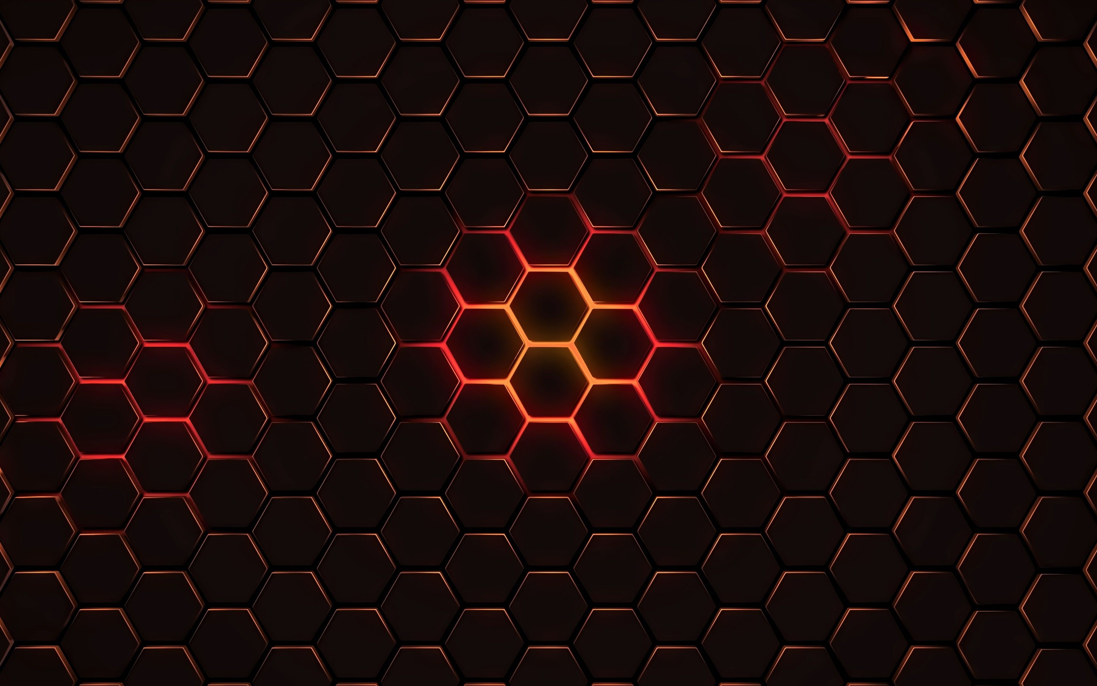 Hexagon Pattern Background Wallpaper For Desktop In High