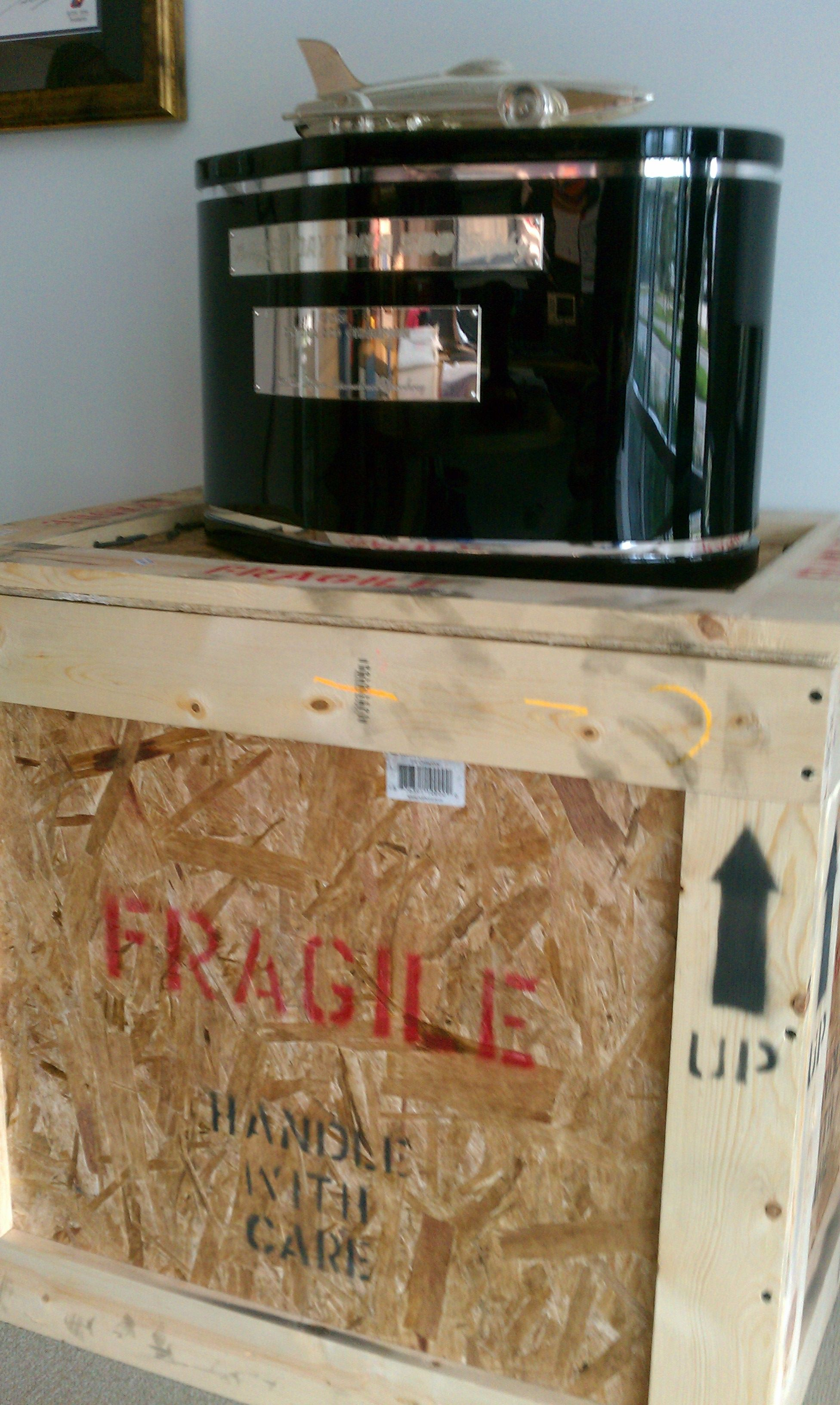 Special delivery...The Harley J. Earl DAYTONA 500 trophy has arrived!