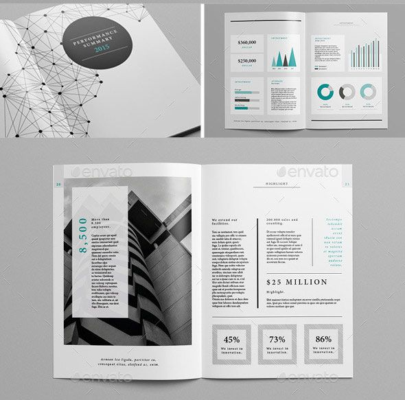 20 Best InDesign Annual Report Templates Brochure Template