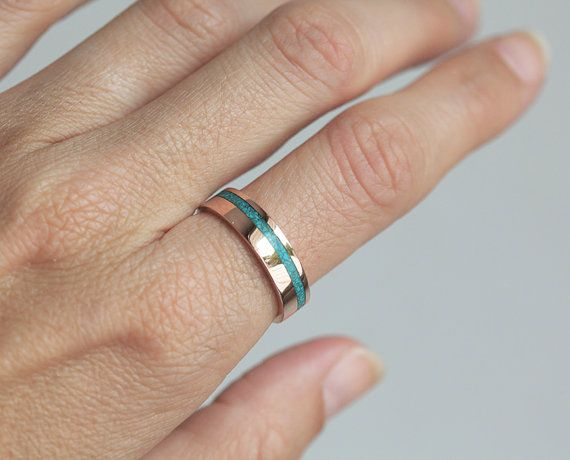 Turquoise Ring Men S Wedding Band Mens Band 14k Rose Etsy Mens Wedding Bands Rings Mens Wedding Bands Rose Gold Mens Band