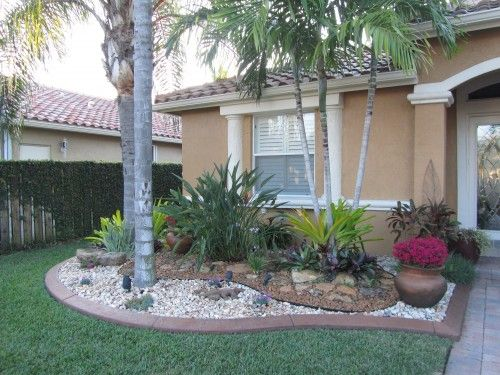 Front Yard Landscaping Ideas With Rocks And Pots