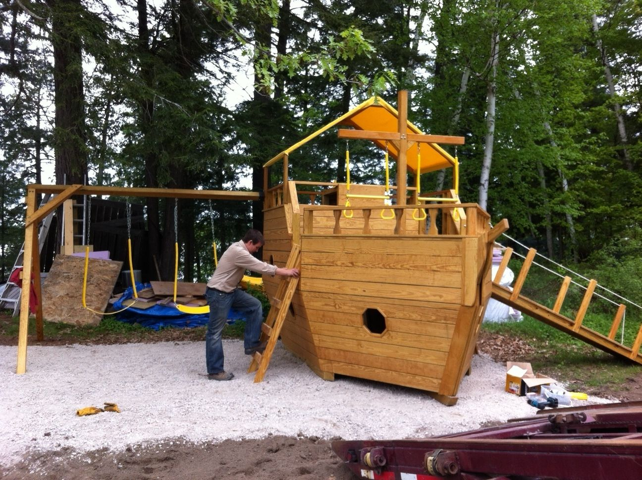 boat play set by north country sheds kingston on kids backyard