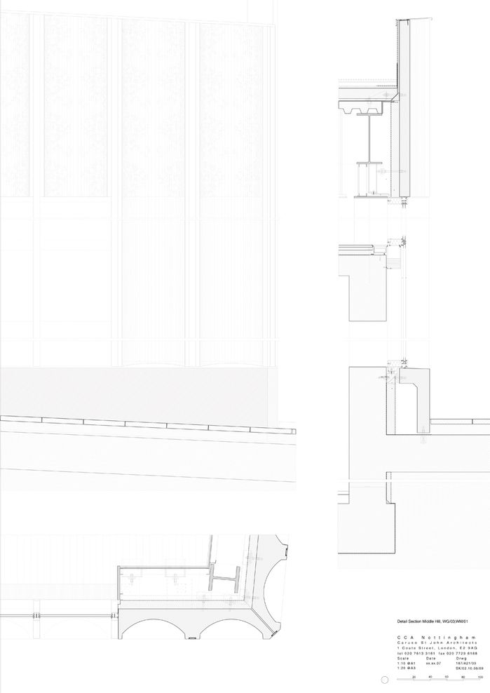 Nottingham Contemporary by Caruso St John drawn Pinterest - best of blueprint architecture nottingham
