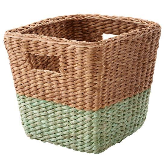 34 11x11 X 11half Tone Cube Basket Green In Bins Baskets The Land Of Nod Wohnzimmer