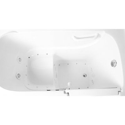 Ariel Bath 48 X 29 Dual Air And Whirlpool Walk In Bathtub In