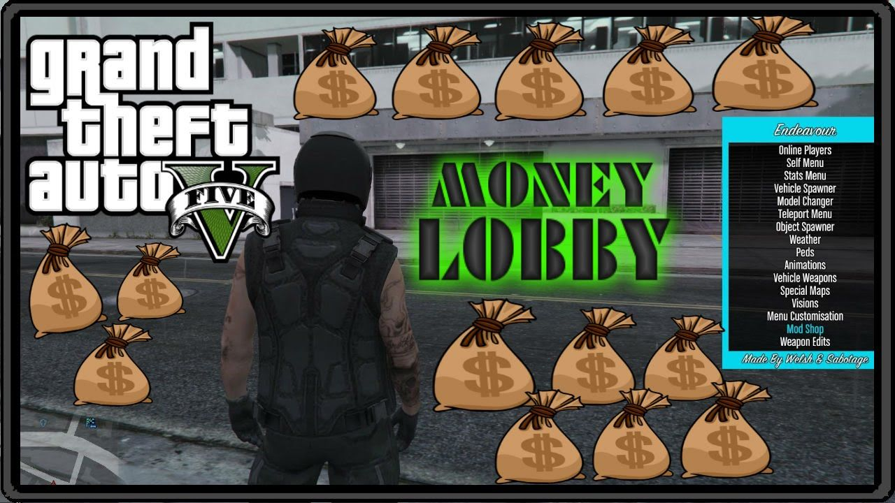Gta 5 Online Mods Money Drop Lobby Subscribe For Millions Gta