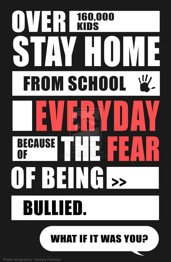 Stop Bullying Quotes Bullying Slogans For Posters  Anti Bullying Poster Design #1.