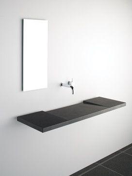 Bathroom Drain Plumbing Minimalist so incredibly simple #concrete #bathroom #sink   concrete