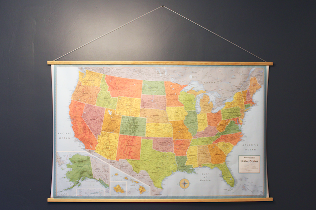 Wooden Map Hanger | Art: Mount, Hang & Display | Wooden map ... on map mirror, map skirt, map accessories, map of downtown denver rtd, map bag, map scrapbook, map chair, map hwy 224 clackamas 32nd, map plastic,