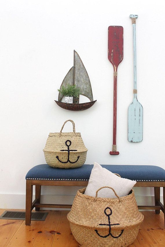 Oar wall decor decorative painted nautical also rh pinterest